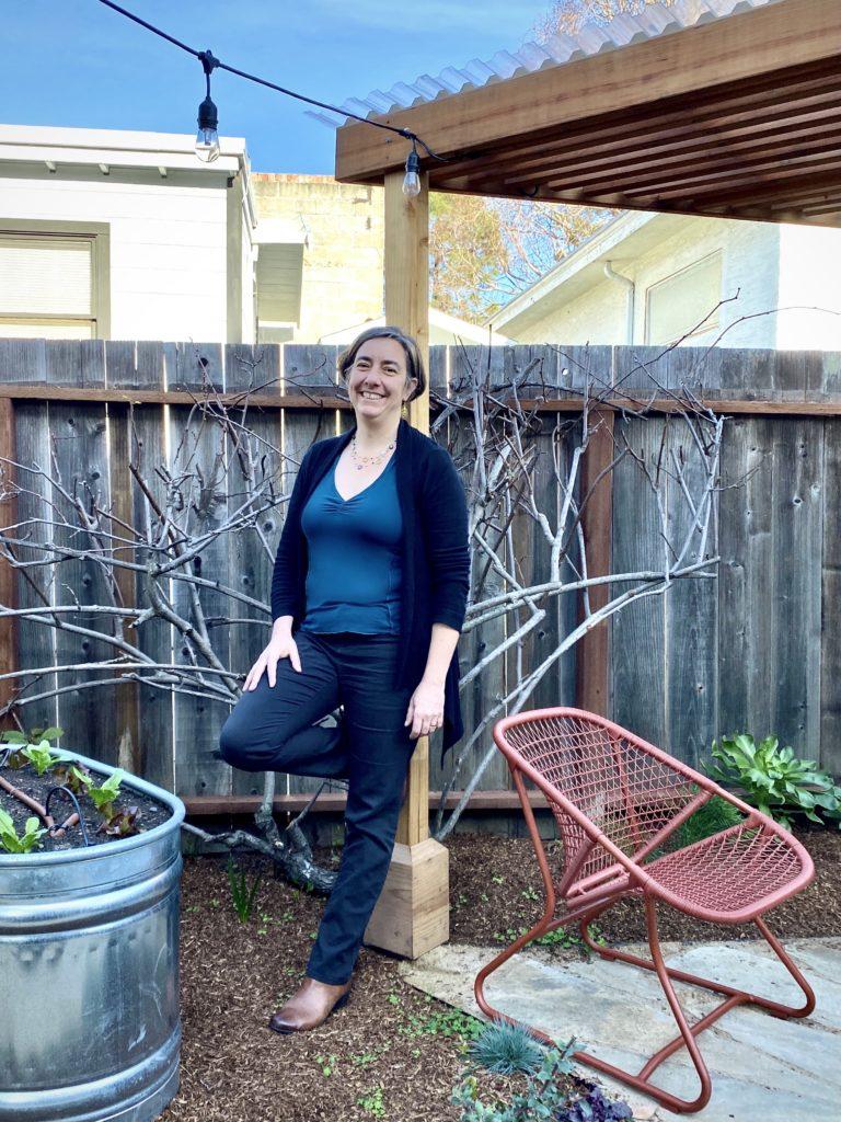 Daria Wrubel standing in garden